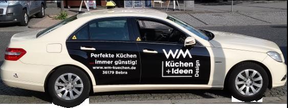 Taxi Werbung WM Küchen